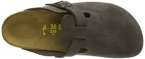 Birkenstock Boston, Sandali Unisex – Adulto Marrone (Braun (BRUSHED HABANA))