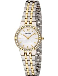 Accurist Women's Quartz Watch with Mother of Pearl Dial Analogue Display and Multi-Colour Bracelet Lb1738P