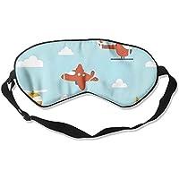 Sleep Eye Mask Cartoon Aircraft Lightweight Soft Blindfold Adjustable Head Strap Eyeshade Travel Eyepatch preisvergleich bei billige-tabletten.eu