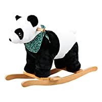 Dunjo® Rocking horse, design panda with sound, 65460