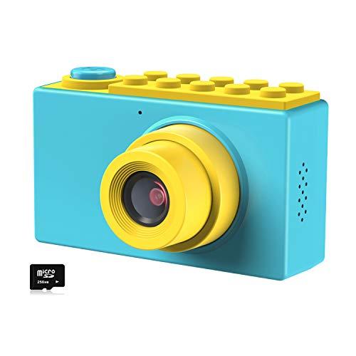 Kriogor Kinder Fotoapparat, Kids Camera Digitalkamera Videokamera mit 4X Digitaler Zoom/HD 1080/ 8 Megapixel/ 2 Zoll Bildschirm/ 256M TF Karte, Geschenke für Kinder (Blau)
