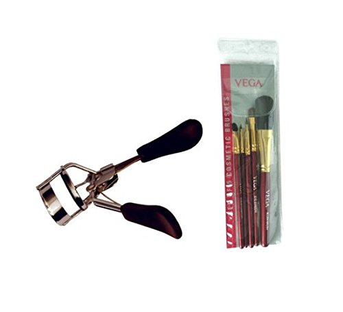Vega Set Of 5 Brush Rv-05 With Eye Lash Curler Ec-02 (Set of 2)