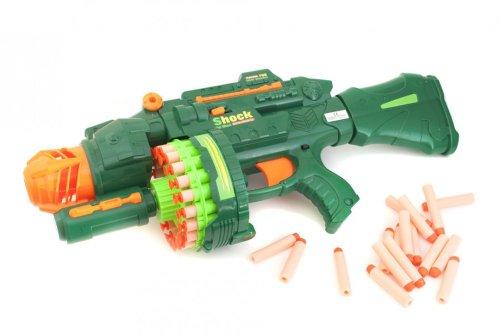 Goods & Gadgets Vollautomatisches Softdart X-Strike Blaster Spielzeug Gewehr Softgun mit 40 Schaumstoff Pfeilen Geschossen