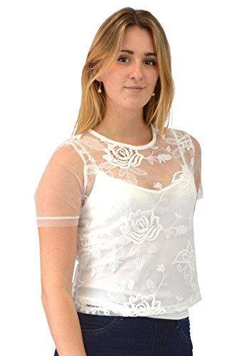 Ex new look the best amazon price in savemoney ex new look new look white embroidered layered topvest 10 fandeluxe Gallery