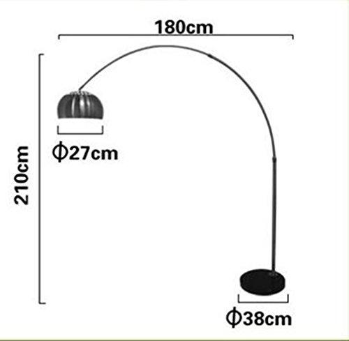 Moderna semplice telecomando Lampada da terra creativo in acciaio inox Soggiorno Camera da letto Ufficio (Media Base Spot)