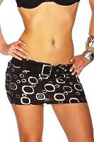 Arunta® Minirock sexy kurz Elasthan mit Gürtel zum abnehmen in 3 Größen 36 38 40