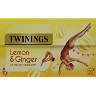 Twinings Lemon and Ginger Fruit Infusion Tea Bags (Pack of 20)