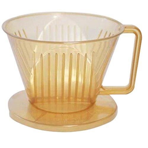 LYLXS Permanent Drei-Loch-Kaffeefilterbecher Maschine-Filterfilter Kaffeefilter 1x4 für Filtertüten Filtertrichter gold , Größe