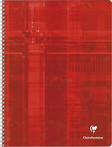 Clairefontaine – 8341 – 118276 Metric – Cahier reliure spirale – 24 x 32 cm – 100 pages – 90 g