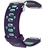 Gosuper Fitbit Blaze Armband, Two-toned Silicone Perforated Accessory Sport Bands for Fitbit Blaze Smartwatch