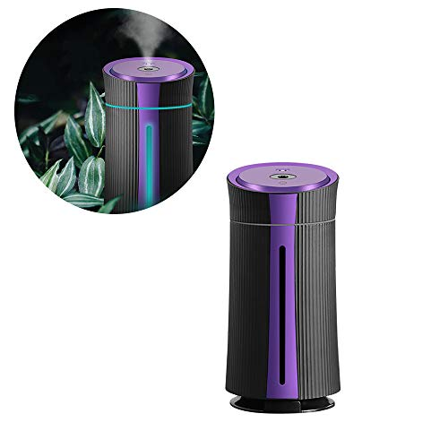 LSJZF Ultraschall-Luftbefeuchter Mit Kühlem Nebel, Beweglichen Ätherisches Öl-Diffusor, Auto-Off-Entwurf, Mit 7 LED-Licht Farbe, Ideal Für Baby-Arbeitszimmer, 1100Ml,Lila