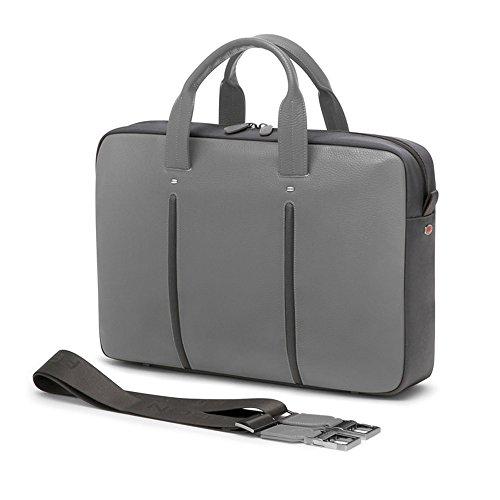 Giorgio Fedon 1919 Slim Leder MacBook-Laptop-Tasche (Dunkelgrau / hellgrau) Dunkelgrau / hellgrau