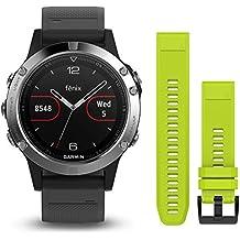 Garmin Fenix 5 - Reloj multideporte, con GPS y medidor de frecuencia cardiaca, lente
