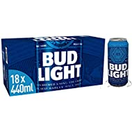 Bud Light Lager Can, 18 x 440 ml