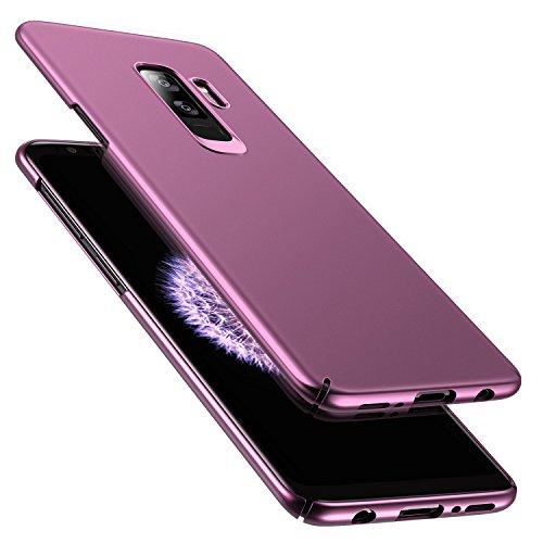 RANVOO Kompatibel mit Samsung Galaxy S9 Plus Hülle, Dünn Leicht Ultra Slim Hart Hard Matt Anti-Kratzer Anti-Fingerabdruck Voller Schutz Handyhülle Case Cover Schale Schutzhülle, Lila