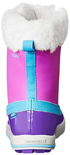 Merrell Spruzzi Wtpf, Bottes de Neige fourrées mixte enfant Violet (Purple Blue)