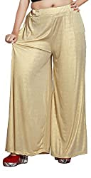 Comix Cotton Lycra Fabric Women Palazzo(2155-PZ-BEIGE02-FREE)
