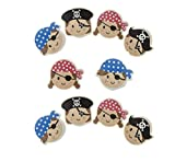Dreams 10 x Radiergummi als Set - buntes Motiv Pirat - kleines Geschenk / Mitgebsel für Kindergeburtstag oder Motto Party Feier - tolles Give Away für Kinder (Mehrfarbig)