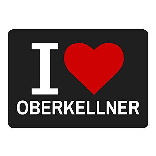 Mousepad Classic I Love Oberkellner schwarz
