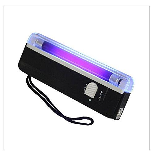 Yunchenghe Portable Handheld Schwarzlicht 2 in 1 Uv Licht Taschenlampe Blacklight Falschgeld Rechnung Erkennung Währung Banknote Checker Tester Bargeld Sicherheit -
