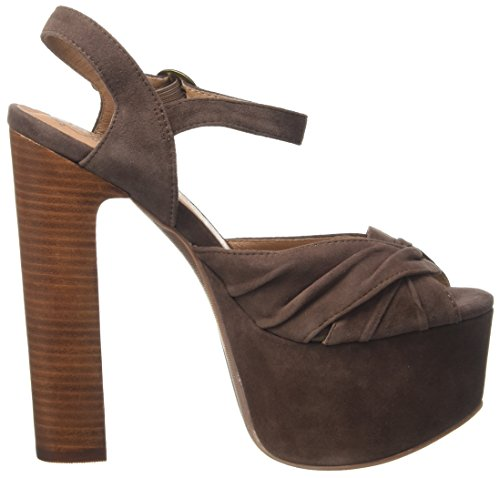 Jeffrey Campbell Suede, Escarpins femme Marrone (Dark Brown)