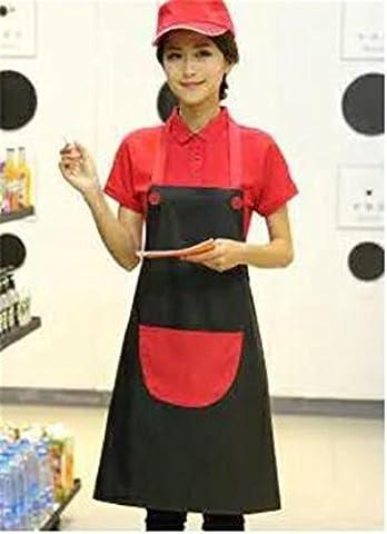 MONEYY Tablier publicitaire, blanc pur, uniforme coréen tablier dacron, 72cm*70cm,F