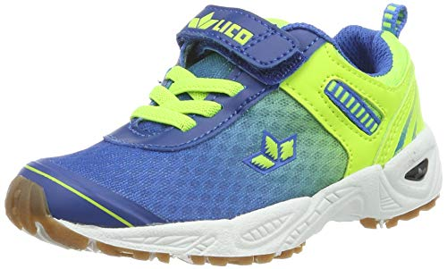 Lico Unisex-Kinder Barney VS Multisport Indoor Schuhe, Blau/Lemon, 34 EU
