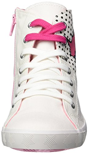 s.Oliver 55205, Sneakers Hautes Fille Blanc (WHITE COMB. 110)