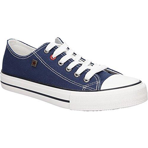 Big Star Sneaker | Bequeme Sportschuhe für Damen | Low Top Turnschuh Textil Schuhe EUR 36-41 - Blau - EUR 40 Big Star Schuhe