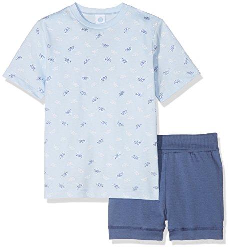Sanetta Baby-Jungen Zweiteiliger Schlafanzug 221388, Blau (Light Blue 50137), 74