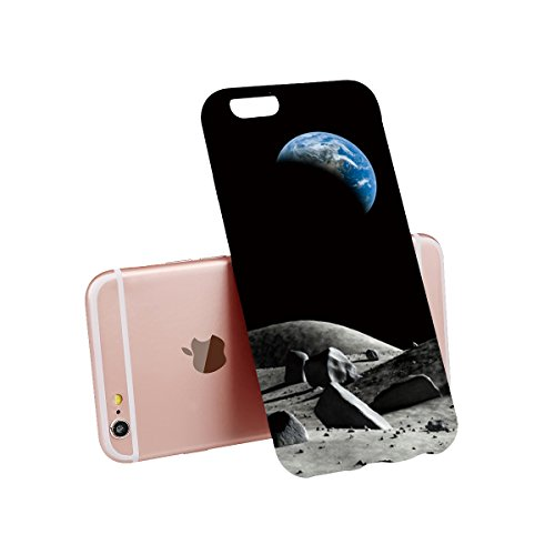 IPhone 6S / 6 Case, Apple phone Case, reduce scratches, shock, protective cover transparent cover [transparent + black 2pcs] pattern 6/6s 001
