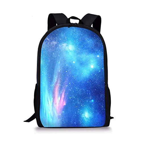 POLERO Universum-Raum-Galaxie Stern Comos Nebula Computer-Rucksack-Buch-Tasche Reisen Wandern Camping Daypack