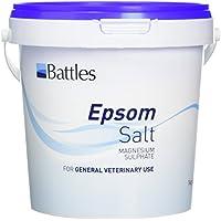 Batallas Epson Sal - Magnesio Sulfato para general veterinario uso (Elije 1kg, 3kg o