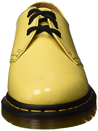 Dr. Martens 1461 Patent Acid Yellow, Derby femme Jaune - Gelb (Acid Yellow)