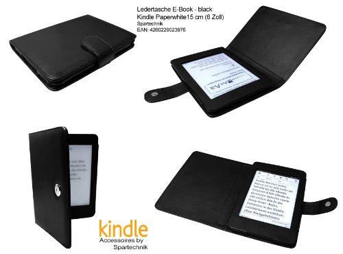 Spartechnik Tasche für Kindle Paperwhite schwarz - bestes Case für Amazon Kindle Paperwhite, 15 cm (6 Zoll) E Ink E-Book Reader - schwarz