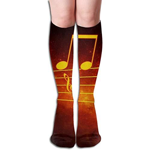 Ljkhas232 Long Socks, Music Notation Knee High Socks, Unisex Tube Compression Thigh Sock Crew Athletic Football Stockings - Klassische Tube Socks