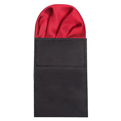 DonDon Herren Einstecktuch vorgefaltet für den perfekten Sitz rot