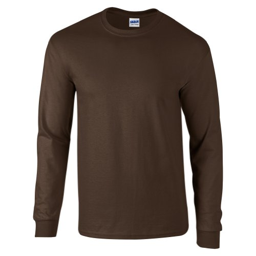 Ultra Cotton Classic Fit Adult T-Shirt - Farbe: Dark Chocolate - Größe: L (Crew Loom T-shirt Herren)