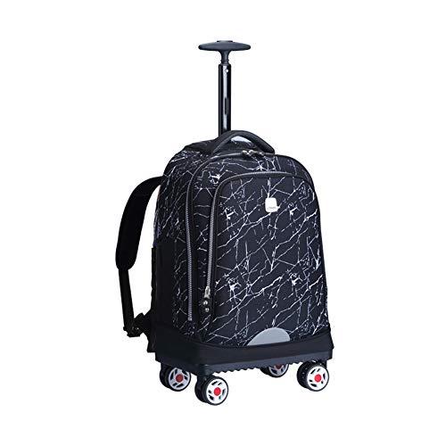 Zaino rotante da 19 pollici con ruote di grandi dimensioni, Zaino rotante per bambini Borse per trolley da viaggio per bambini 35L-D