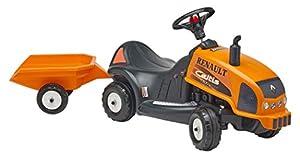 Falk Renault bebé Celtis 436 Rx paseo en el tractor con remolque de juguete de interior al aire