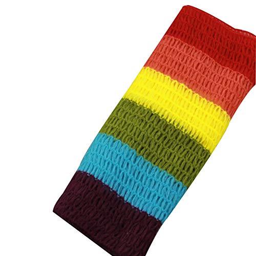 REDAPP Neugeborenes Baby Regenbogen Streifen Weiche Swaddle Stretch Wrap Decke Fotografie Requisiten rot -