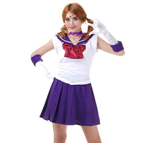Kostüm Saturn Sailor Cosplay - Hotaru Tomoe Sailor Saturn Kostüm Japanische Schuluniform Baumwolle L