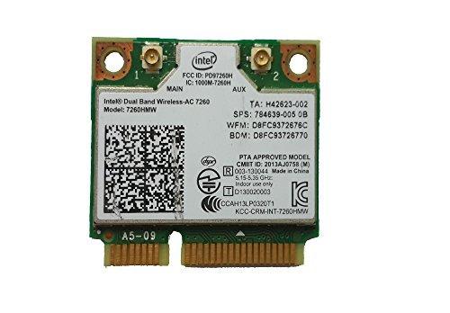 Wireless 7260 AC 7260hmw 876 M Dualband WLAN Bluetooth 4.0 Mini PCI Karte (Intel Dual Wireless-ac Band 7260)