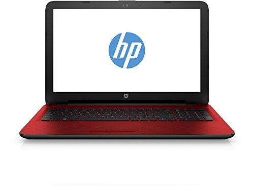 HP 15.6 Inch Laptop (Intel Pentium 3825u Dual Core Processor,4GB RAM, 1000GB SATA Hard Drive, DVD Optical Drives, Intel HD Graphics, Intel HD Graphics Graphics Card, USB 3.0, HDMI Port, Wi-Fi Enabled, HD Webcam, Built-in mic, Microsoft Windows 10) - Red