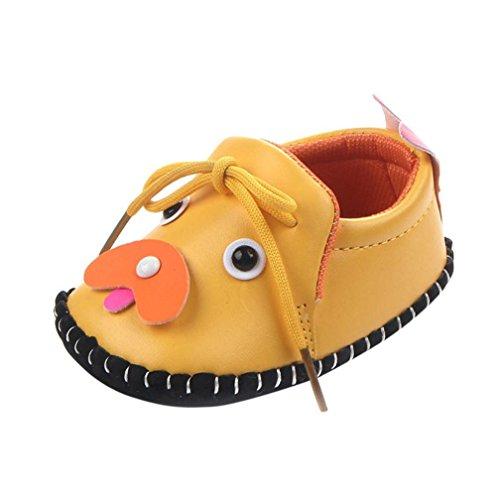 JoyJay Baby Toddler Shoes, Newborn Unisex Baby Girl Boy Cartoon Dog Anti-Slip Soft Shoes Sneaker