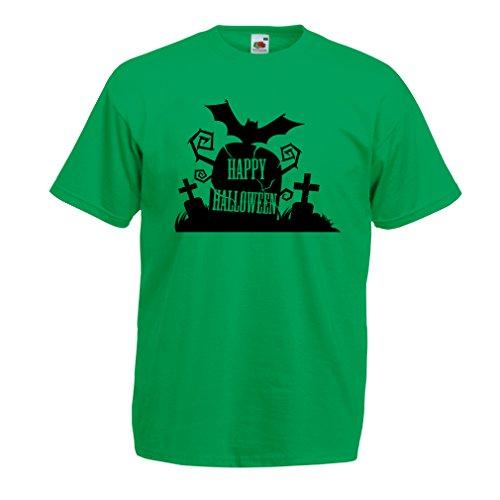 Männer T-Shirt Halloween Graveyard Outifts - Costume Ideas - Cool Horror Design (X-Large Grün Mehrfarben)
