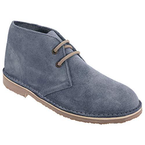 Wildleder-plattform-boot (Roamers Damen Desert Boots/Wüstenstiefel / Schuhe, Wildleder, ungefüttert (38 EU) (Denim Blau))