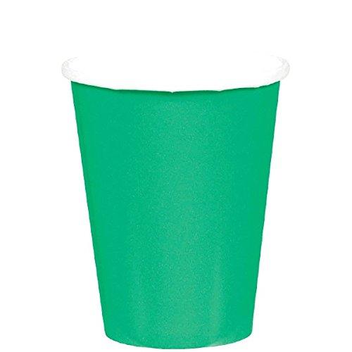 ium Paper Cups, Festive Green Papierbecher, Papier, ()