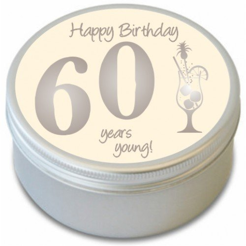 60th cumpleaños–Happy 60th cumpleaños–Vela aromática–sexagésimo cumpleaños–fresco blanco lino–60años jóvenes cumpleaños celebración vela aromática–20horas tiempo de combustión