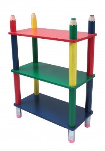 Unbekannt Farbenfrohes Kinder Regal Ablage Holz Mobiliar Bleistift Radiergummi Einlege Boden Harms 314137